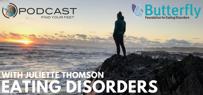 Eating disorder podcast on the Find Your Feet Podcast - Butterfly Foundation Podcast